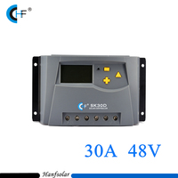 30A 48V Portable PWM Solar Charge Controller For Solar Panel Battery Regulator Home Indoor Use