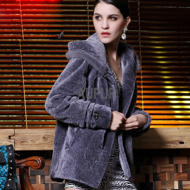 9acb4890aa Hot Women Real Rex Rabbit Fur Coat Hooded Mink Fur Decorated Hoody Winter  Outwear Thick and