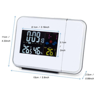 Image 5 - Digital Temperature Thermometer Wireless Weather Station Humidity Meter Hygrometer Table Desk Projection Alarm Clock Projector