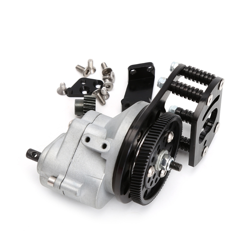 Metal Transmission Case R3 + Motor Gear For 1/10 RC Crawler AXIAL SCX10 AX10 D90 aluminum front knuckle arm 2pcs for axial ax10 scx10 silver