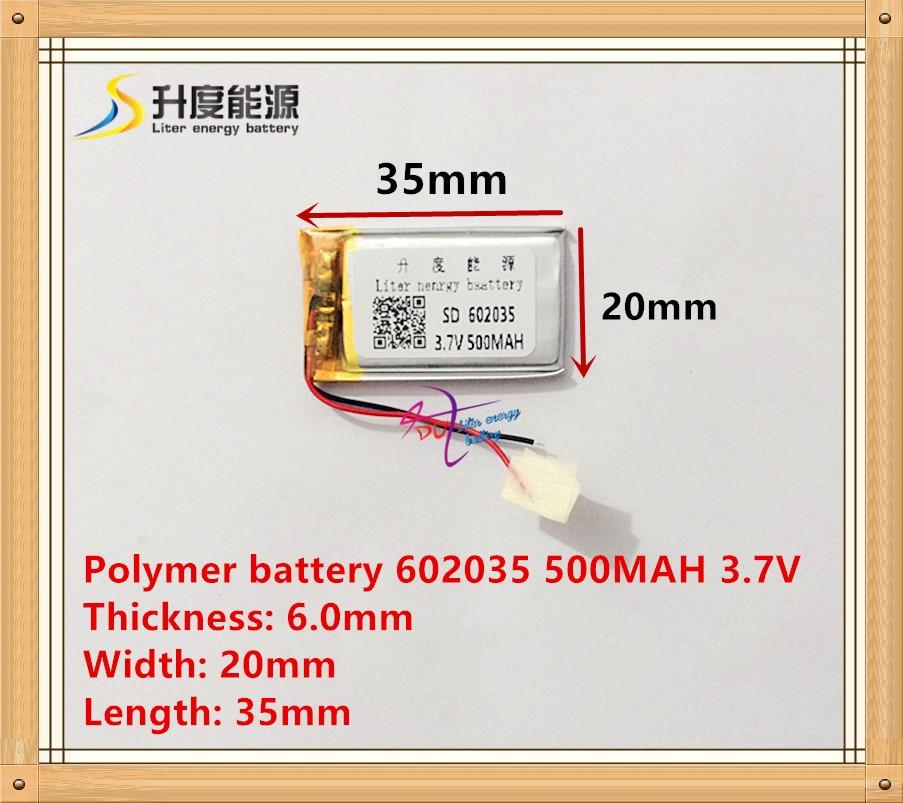 602035 062035 voiture batterie 500 mah au lithium batterie fabricants WiFi mp3 histoire machine 3.7 V lithium polymère batterie