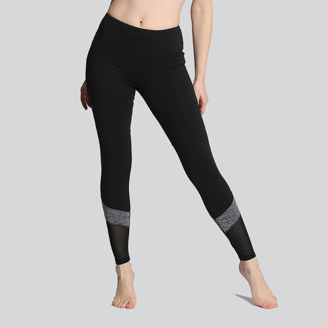 daf478aebd5 Yarn Stitching Yoga Pants Soft Tight Women Large size Quick dry Sport  Leggings for Fitness Black