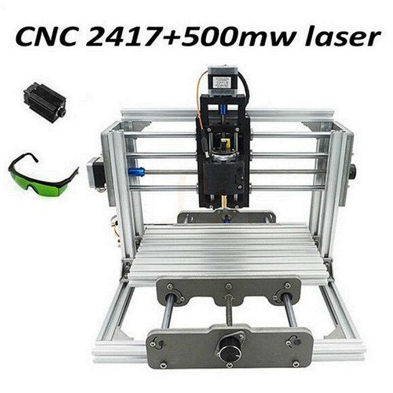 CNC2417 Laser Engraving Machine GRBL Control 3 Axis DIY Mini Wood Router Kit USB Desktop Metal Engraver PCB Milling Machine