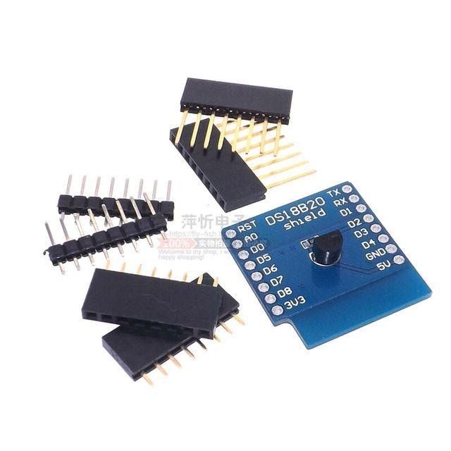 DS18B20 temperature sensor module measurement module FOR WeMos D1 mini WIFI extension board learning board