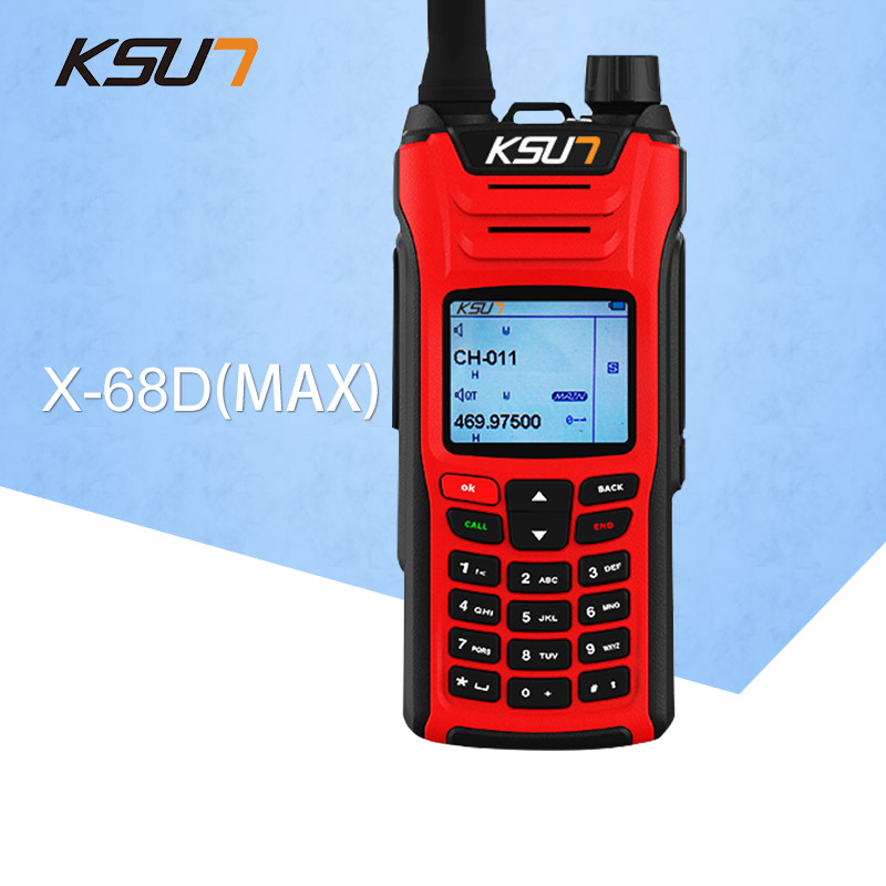 KSUN X-UV68D(MAX) Walkie Talkie 8W High Power Dual Band Handheld Two Way Ham Radio Communicator HF Transceiver Amateur Handy