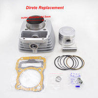 High Quality Motorcycle Cylinder Kit 62mm Big Bore 13mm Pin For Honda CG125 125cc to 150cc 157FMI Modified Engine Block