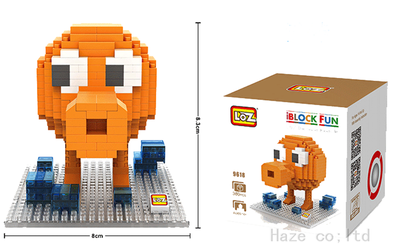 Nano Block LOZ Diamond Micro Blocks Building Toy Pixels Arcade Games Q-bert  DD mr froger loz pixels pac man q bert donkey kong centipede mini blocks small particles building block diy toy brick gifts series