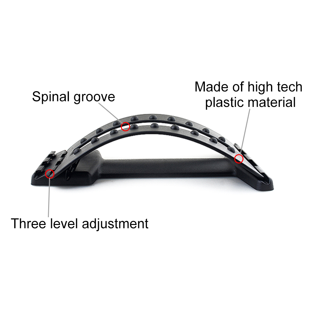 Back Massager Stretcher Fitness Massage Equipment Stretch Relax Stretcher Lumbar Support Spine Pain Relief Chiropractic Dropship 3