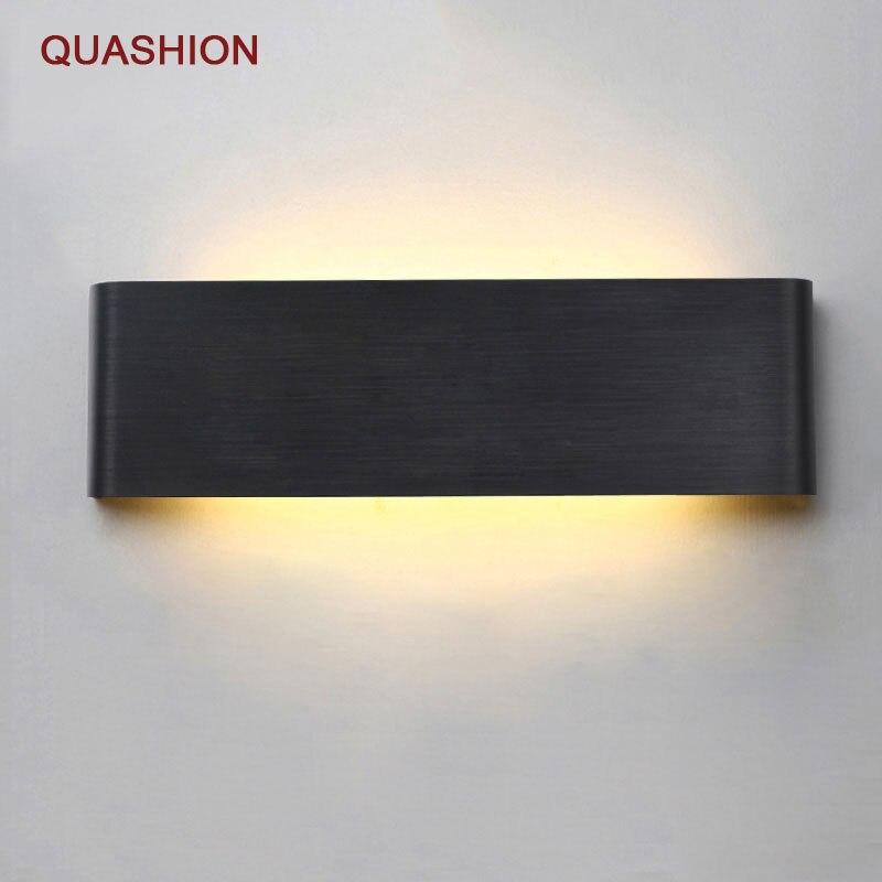 Современный минималистский светодиодный алюминиевый лампы ночники бра ванная комната зеркало свет прямой творческий проход