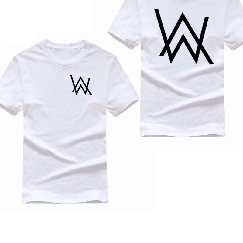 8e8ad05893b 100% Cotton Summer Short sleeve Alan Walker T Shirt Men Women Rock Music DJ  Hip
