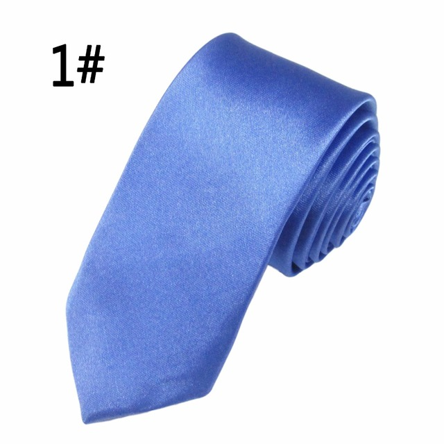 New Arrival Men Ties Fashion Style Slim Men Neck Skinny Tie Simplicity Design Solid Color Longth 45 cm Men For Party Formal Ties