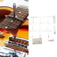 Gitaar Gereedschap Set van 13 Premium Luthier Gereedschap (Pakking + String Hoogte Meten Schaal + Nagel Puller + Kromming meten Schaal)