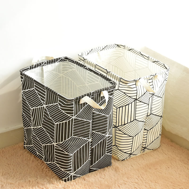 Laundry Basket Fabric Storage Washing Clothes Large Dirty Toys Barrel Pouch
