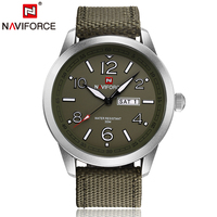 Naviforce Mens Sports Watches Quartz Fabric Canvas Bans Auto Date Day Week Wristwatch Gifts For Men