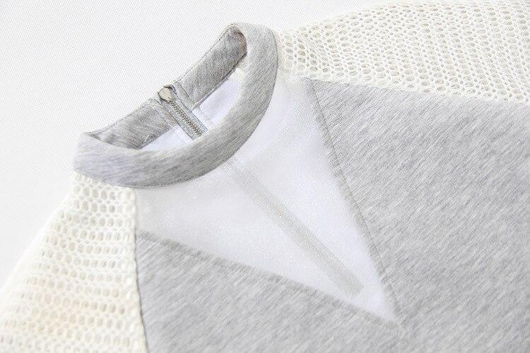 Printemps Fshion Ourlet Style Couche Nouveau Az19m ewq 2018 Qualité Gray Femme Évider shirt Personnalisation Supérieure T D'été Air wPE1q