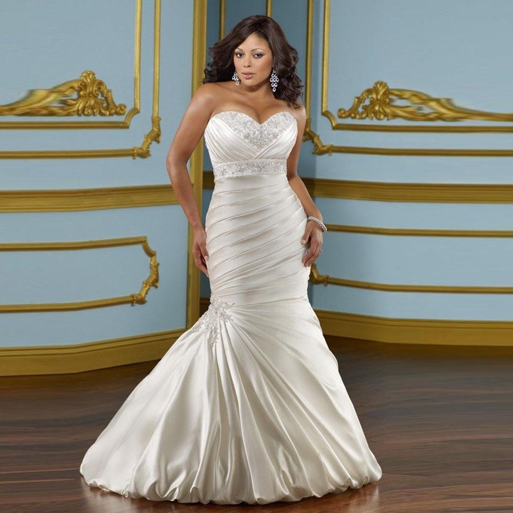 Sweetheart Mermaid Wedding Gown: 2017 Sweetheart Beaded Wedding Dresses Mermaid Bride Dress
