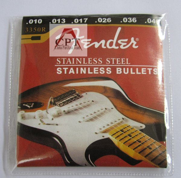 China Post Free!!! 12*sets 3350R/.010 Stainless steel 6-String Electric guitar Strings (.010in---.046)