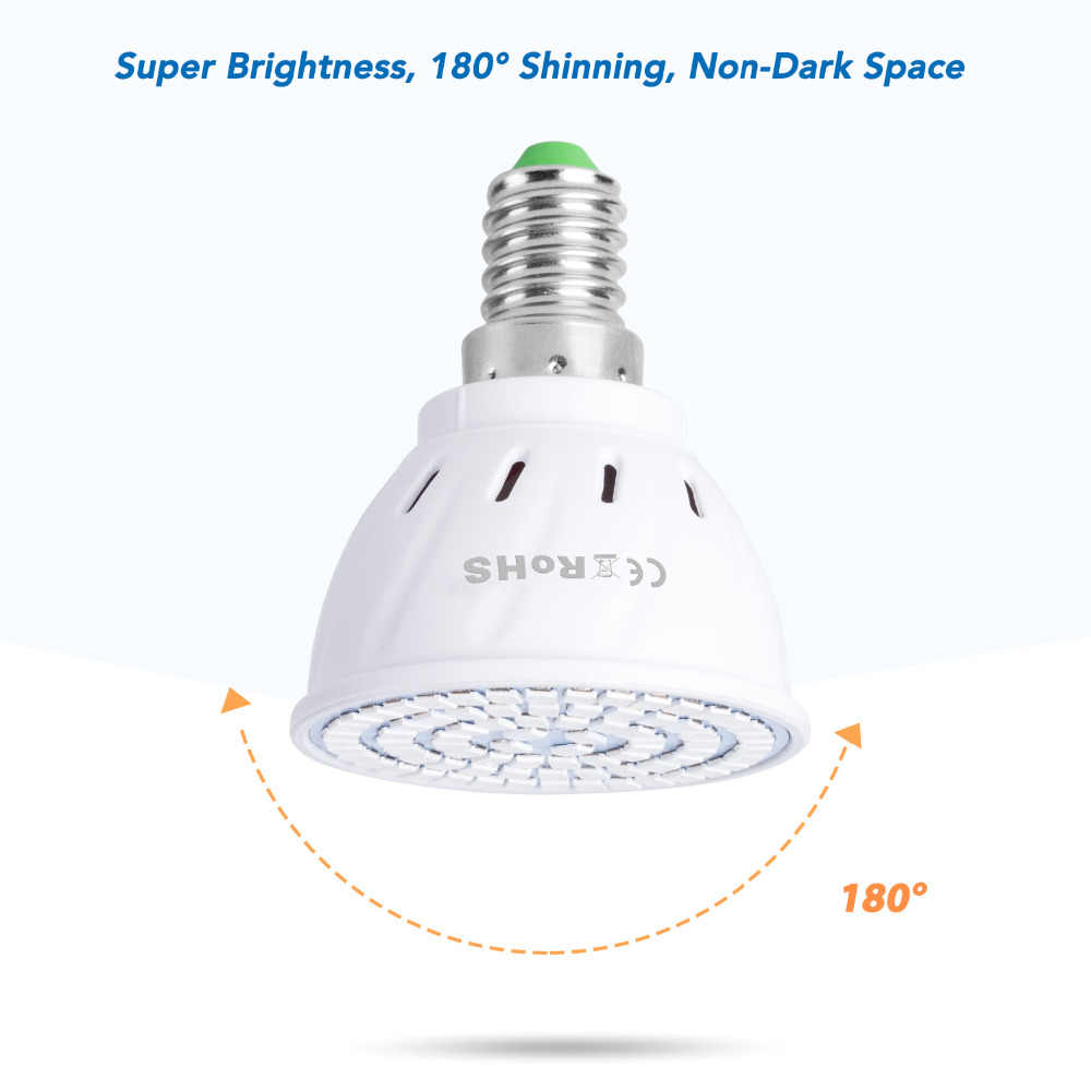 80led s 220V LED Élèvent la Lampe LED À Spectre Complet LED Lampe DE CROISSANCE De PLANTE D'intérieur Éclairage Grandir Lumières Plantes E27 SYSTÈME Hydroponique Boîte