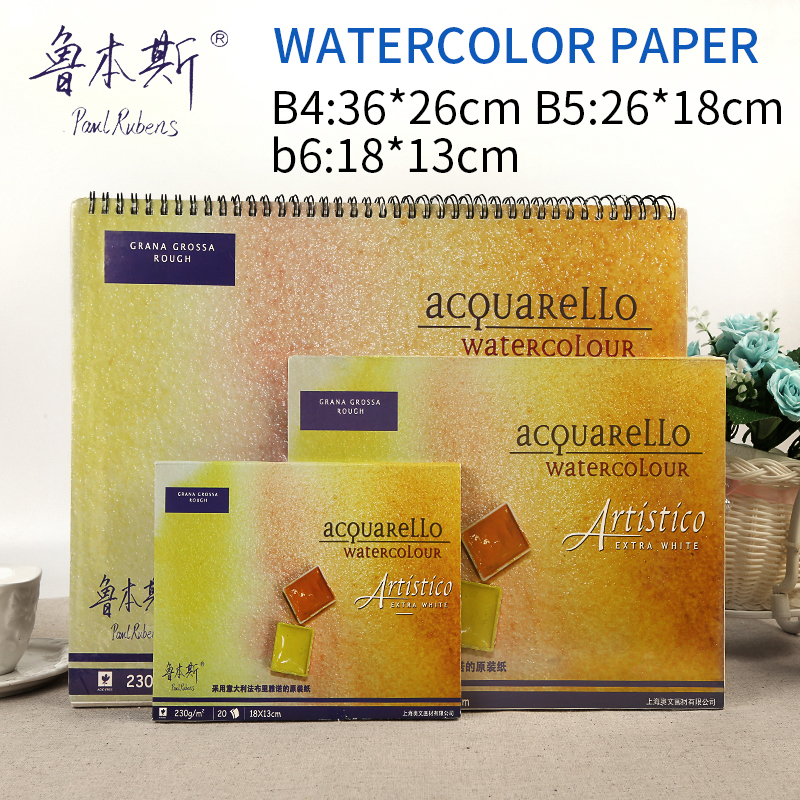 Paul Rubens 20Sheets/Book Watercolor Paper 230g/m2 Watercolor Book Professional Painting  For Drawing Painting  Art Supplies rubens barn кукла зебра в россии