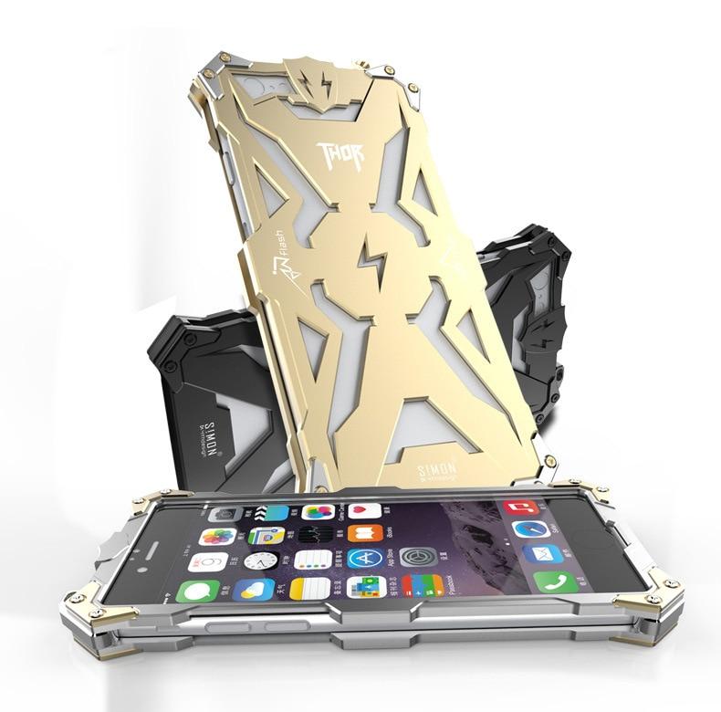 Nový design Armor Heavy Dust Metal Aluminium THOR IRONMAN Chránit pouzdro na pouzdro telefonu pro iPhone 5 5s 6 6s plus zadní kryt pouzdra