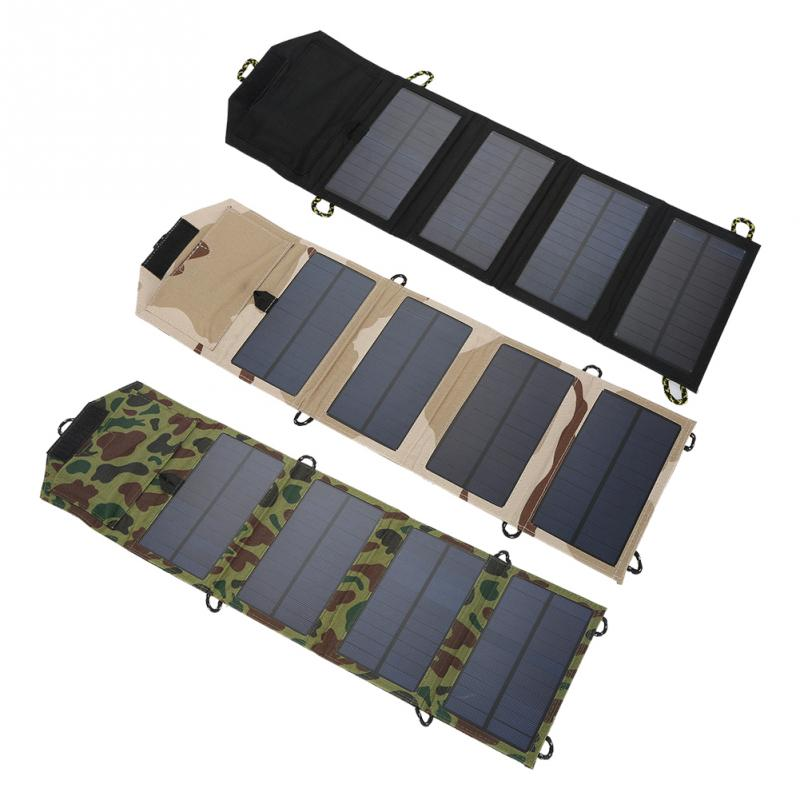 5V Solar Charger Mobile Solar Charger Phone USB Power Bank 7W Portable Foldable Solar Panel Charger for Travelling Camping allpowers 18v 21w usb solar power bank camping travel folding foldable outdoor usb solar panel charger for mobile phone laptop