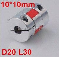 10pcs Lot 10mm X 10mm Cnc Stepper Motor Flexible Coupling Coupler D20 L30 Diameter 25mm Length