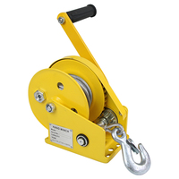 Self locking hand winch Stainless steel Boat windlass truck auto manual lifting hoist 1200lbs 5 30M Y