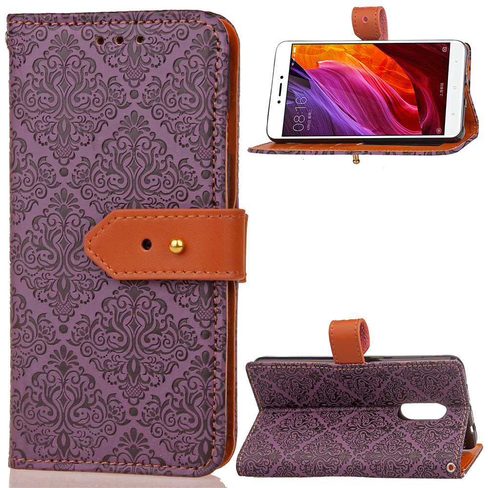 For Xiaomi Redmi Note 4X 5A 5 Plus Leather Wrist Strap Card Slot Flip Book Case For Xiaomi Red Mi Note 4X 4 X 5A Wallet Cover