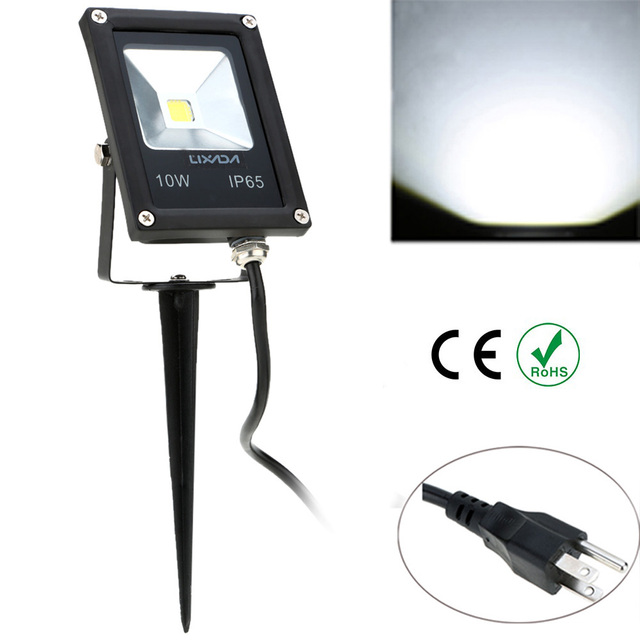 10W 85 265V IP65 Ultrathin LED Flood Light with Wire & Stake EU Plug ...
