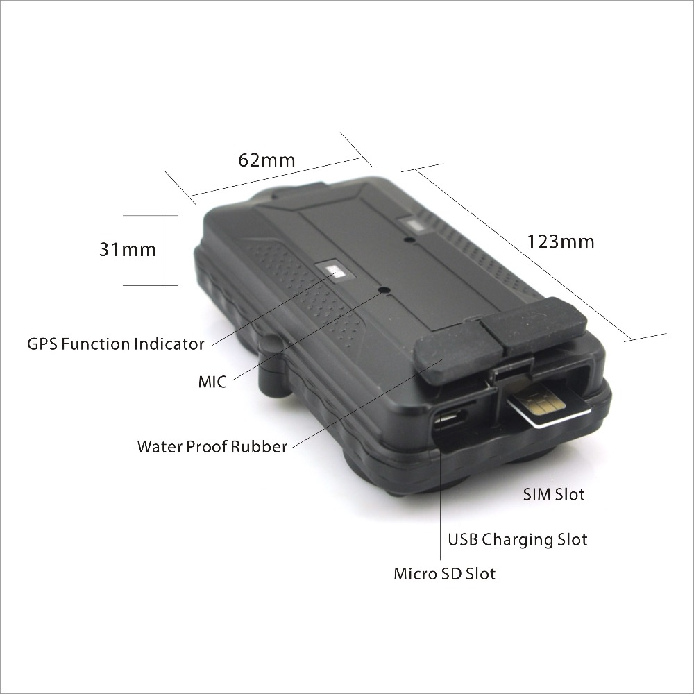 Waterproof Portable GPS+GSM+WIFI 3G GPS Tracker TK05G Realtime SD Card Offline Track 5000mAh Removable Battery Voice Monitoring цена