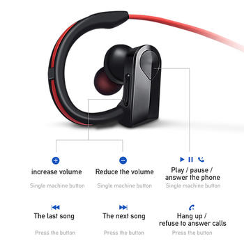 Sport Bluetooth Headphone Wireless Earphone Bluetooth Headset Waterproof noise reduction with Microphone for android ios phones 1