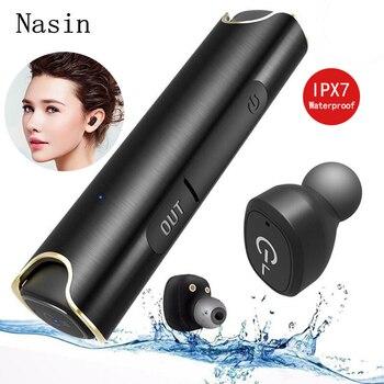 Nasin S2 TWS auricolare Bluetooth Stereo IPX7 Impermeabile Mini Auricolare Vero Wireless Auricolare con 850 mAh Casella di Ricarica per Xiaomi