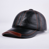 2019 New Autumn Winter Men Women Genuine Leather Casual Baseball Caps Fashion Male Hats Christmas New Year Gift