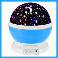 New Romantic Starry Sky Star Projector Lamp LED Night Lights Rotary Flashing Projection USB Light For