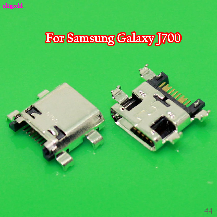 2PCS/Lot <font><b>USB</b></font> Charge Dock Socket Jack Charging Port Connector For Samsung Galaxy J7 J700 J700F 2015 / J7 J710 J710F J5 <font><b>J510</b></font> 2016 image