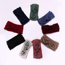 Headbands Handmade crochet headwrap headband headwear da mulher do inverno
