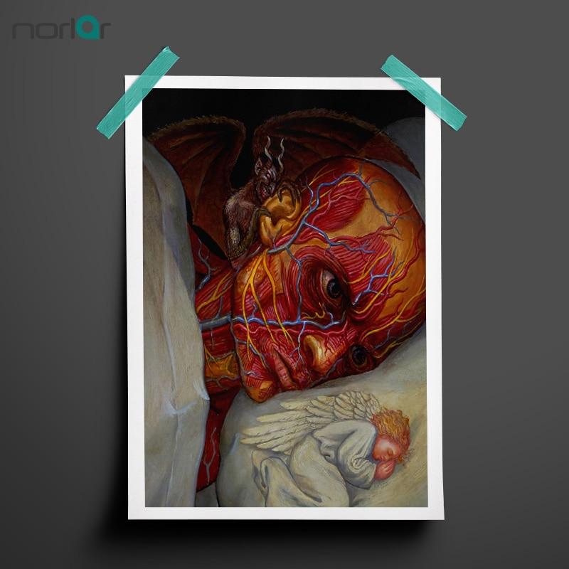 Alex gris arte lienzo pintura psicodélica Diablo y Ángel en el ...