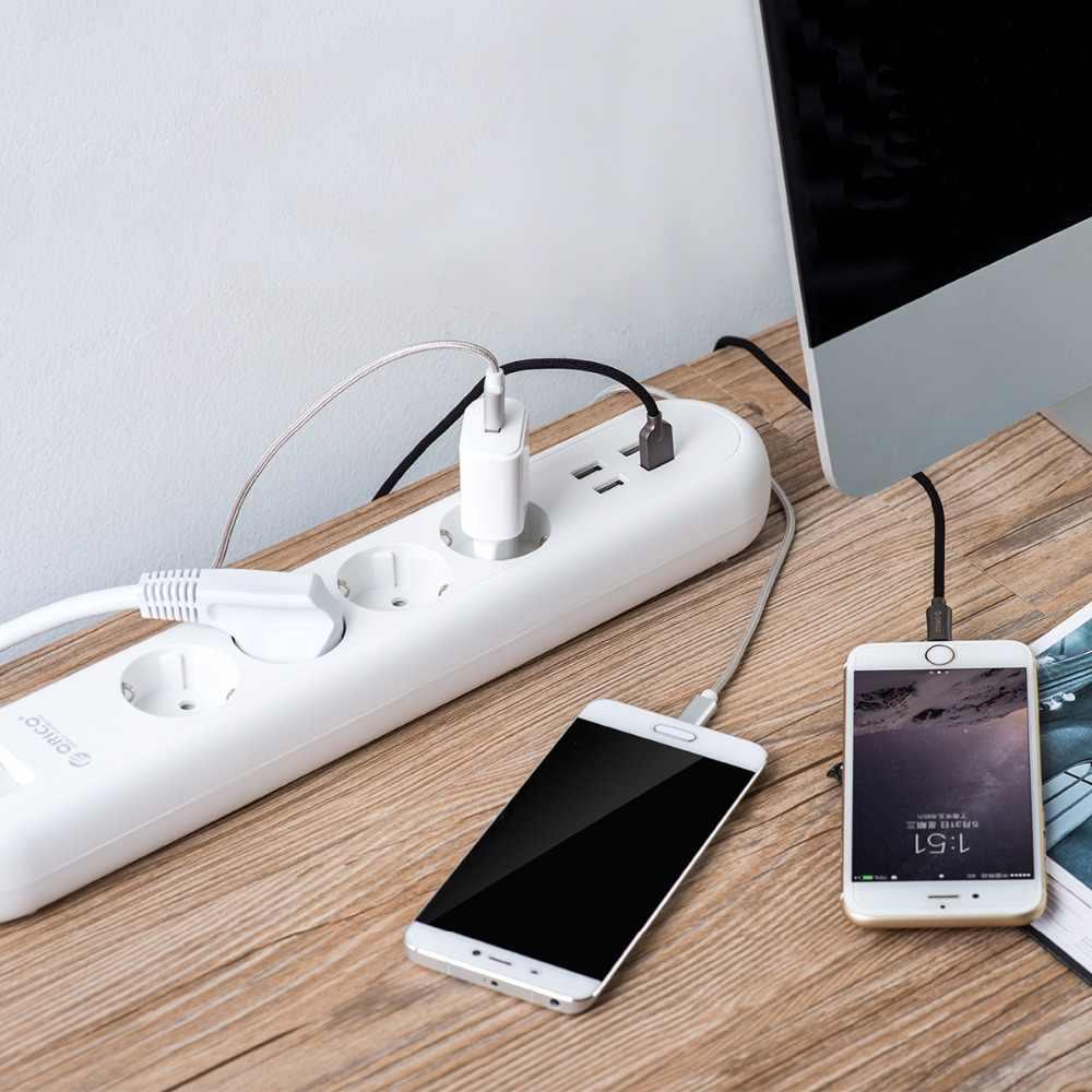 ORICO 4AC Ổ Cắm Đầu Ra Với 4 Cổng Sạc USB Max 5V2. 4A Nối Dài USB Ổ Cắm Điện Cho Văn Phòng Nhà Dán Cường Lực