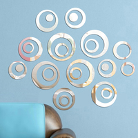 DIY mirrored wall stickers 3d effect acrylic bedroom decorate for background walls circle shaped mirror stickers