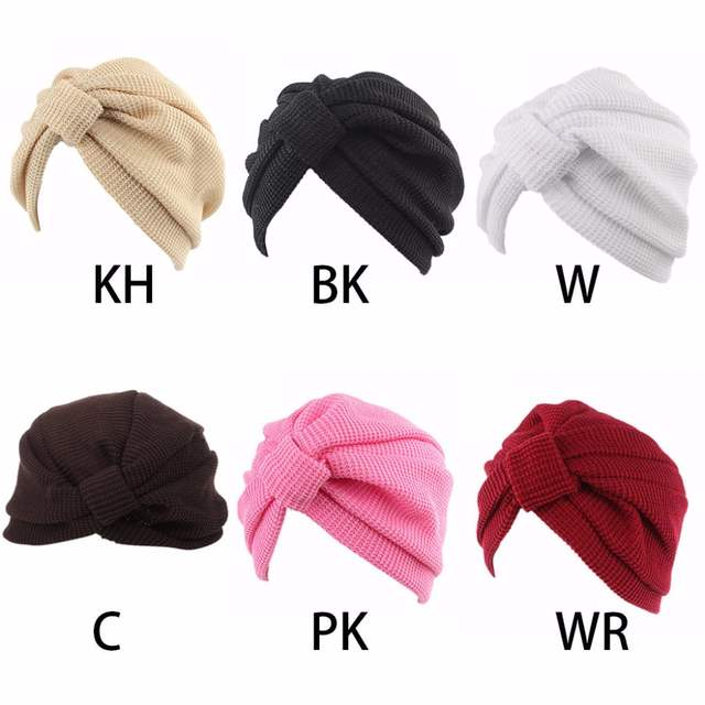 Us 2 02 29 Off Womens Headband Crochet Winter Elastic Turban Indian Knitted Cap Chemo Hat Solid Hair Accessories In Women S Hair Accessories From