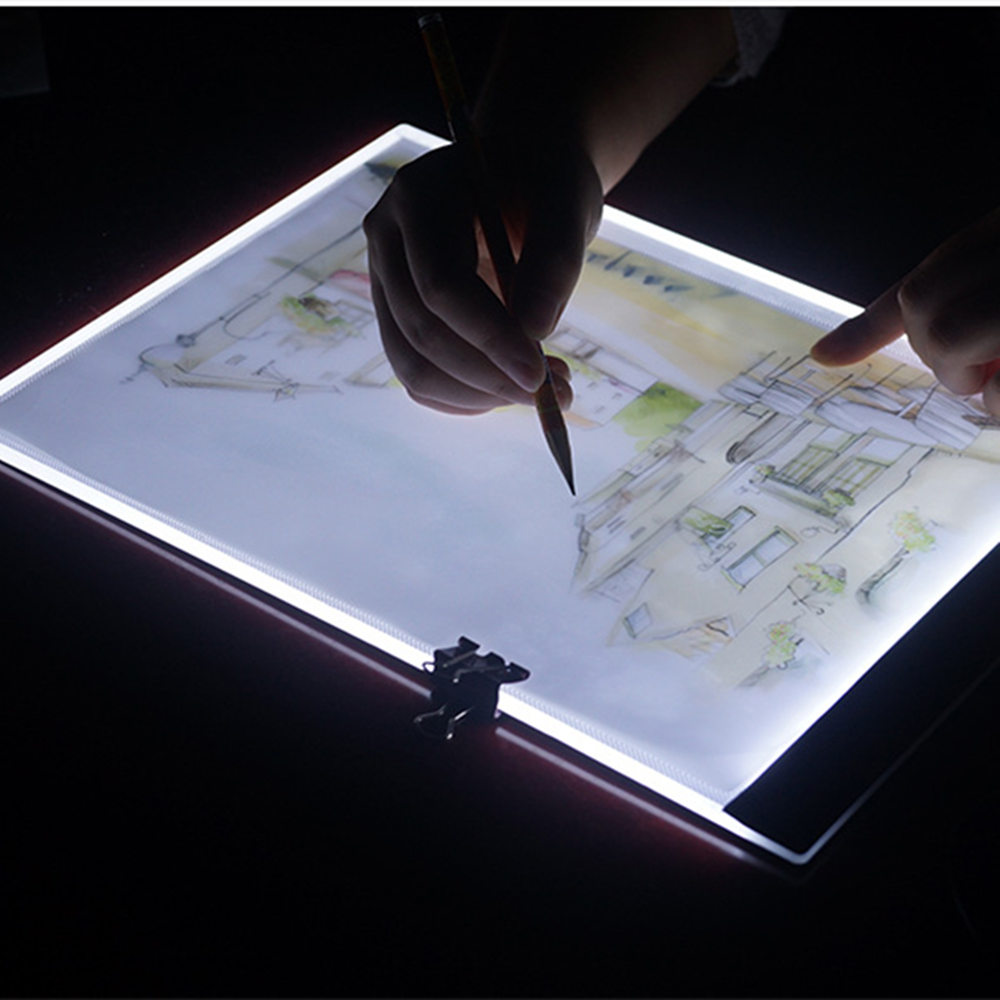 Learning & Education Learned Led Graphic Tablet Writing Painting Light Box Copy Drawing Board Digital Tablet Artcraft A4 Copy Plate Led Drawing Toys