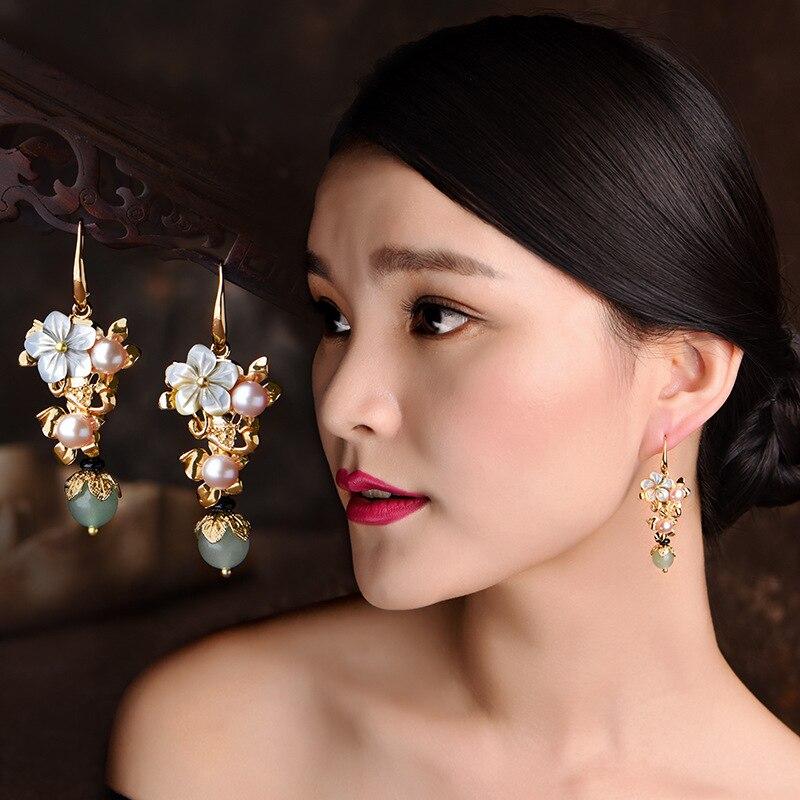 0f6834411ebb BOEYCJR etnológico Vintage de perlas de agua dulce de cuentas de ...