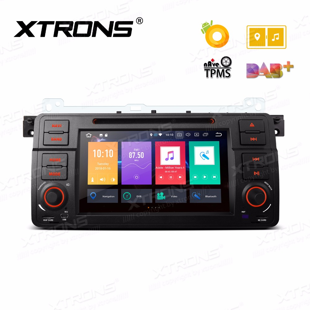 "Xtrons 7 ""радио android 8.0 Octa core dvd-плеер GPS для BMW E46 седан/Rover 75 1999 2000 2001 2002 2003 2004 2005/MG ZT"