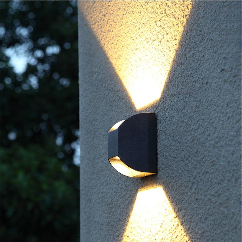 Современные наружного освещения led Водонепроницаемый настенный светильник патио лампы Ip65 напольный светильник вверх вниз свет открытый настенный светильник Светильники для крыльца маленькие прожекторы споты настенны