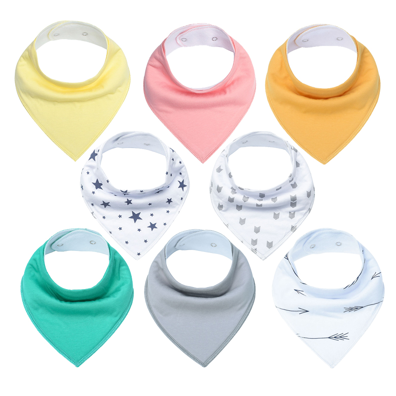 Baby Bandana Drool Bibs, Unisex 8-Pack Gift Set for Drooling and Teething, 100% Organic Cotton, Soft and Absorbent, Unisex bibs
