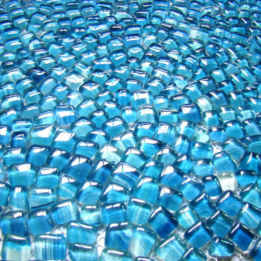 irregular shape blue color glass mosaic tiles EHGM1005I kitchen ...