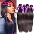 8A cabelo virgem Peruano reta 4 pacotes Cabelo Virgem Peruano Não Transformados Em Linha Reta Cabelo Peruano Tecer Cabelo Humano soft & silky
