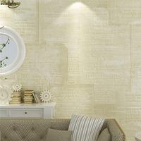 Papel pintado 3 d del alfabeto del alivio nostálgico europeo de beibehang para la pared decoración del hogar papel pintado de la sala de estar para la cubierta de las paredes del dormitorio