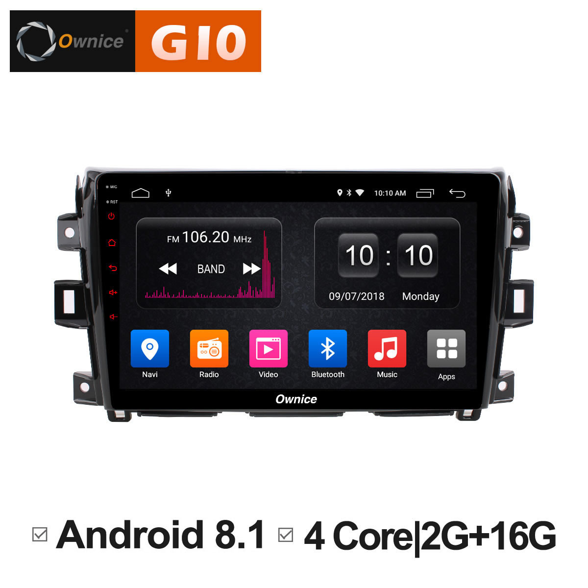 10.1 GPS DVD Player Radio Android 8.1 Unit For Navara 2015 2016 2017 Car Audio Head unit S