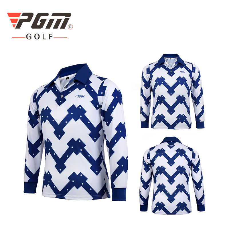 PGM Golf Shirt For Men Breathable Long Sleeve Sports Shirts Brand Golf Outwear Clothing Men Polo Tees For Outdoor Sport Training